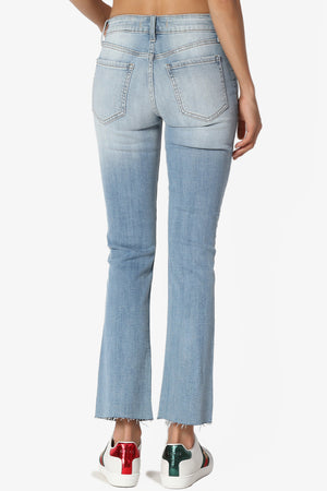 Genia Cropped Bootcut Jeans - TheMogan
