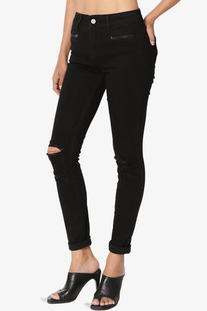 Edgemont Zip Pocket Rip Skinny Jeans