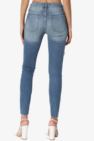 JOSIE Mid Rise Ankle Skinny Jeans in Too Deep MD