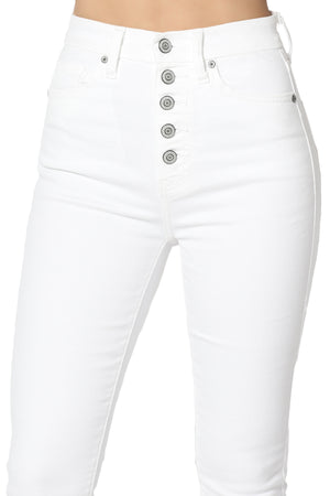 Kendall Button Up High Rise Skinny Jeans