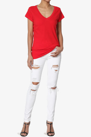 Ylona High Rise Ripped Skinny Jeans - TheMogan