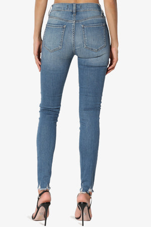 Clara Ripped High Rise Crop Skinny Jeans in HAS MD
