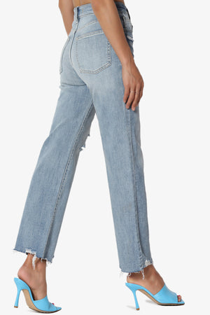 Dawn High Rise Wide Leg Crop Jeans in MD
