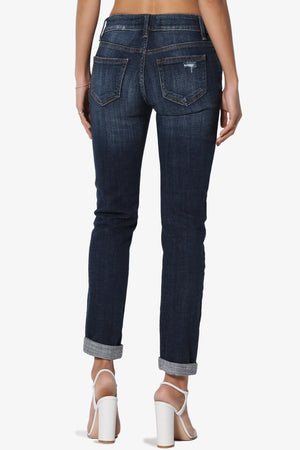 Mia Mid Rise Relaxed Skinny Jeans - TheMogan