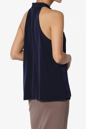 Ashley Tie Neck Sleeveless Blouse - TheMogan