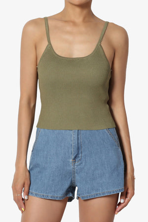 Lissandra Ribbed Cropped Cami - TheMogan