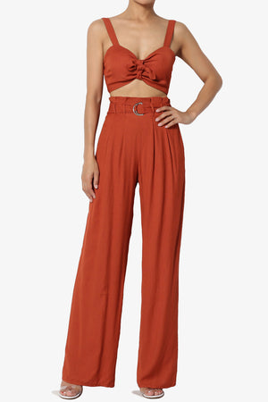 Beverly Knotted Crop Top - TheMogan