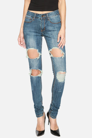 Smith Big Distressed Jeans - TheMogan
