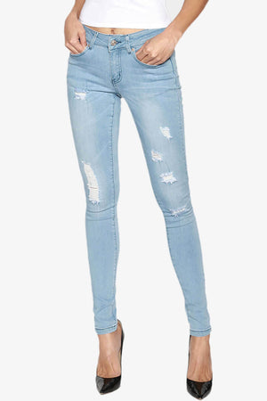 Adoria Distressed Light Jeans - TheMogan
