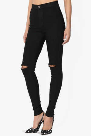 Icee Ripped High-Rise Skinny Jeans - TheMogan