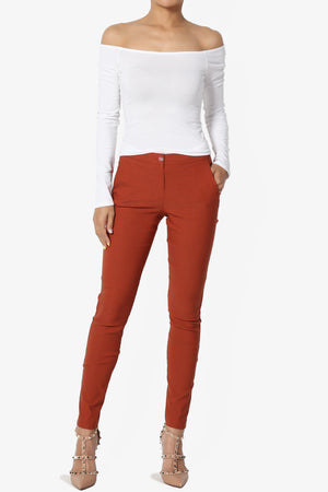Cameron Stretch Woven Skinny Trouser - TheMogan