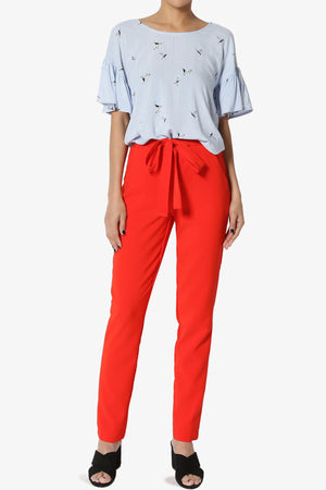 Reisel Bow Belt Trousers - TheMogan