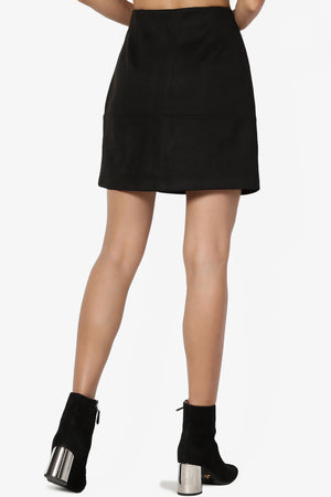Fralissi Faux Suede Mini Skirt - TheMogan