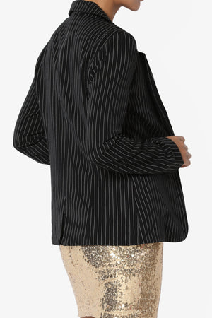 Noraa Stripe Fitted Blazer - TheMogan