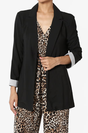 Shaye Stripe Cuffed Blazer - TheMogan