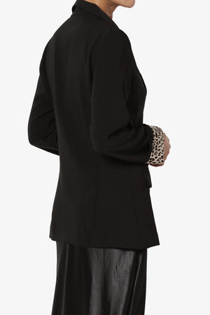 Louisah Double Breasted Crepe Blazer - TheMogan
