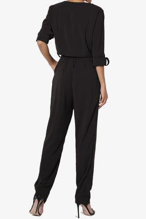 Dyani Belted Button-Up Jumpsuit - TheMogan