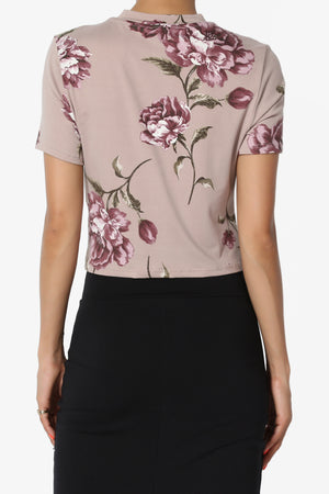 Parisah Floral Tie Crop Top - TheMogan