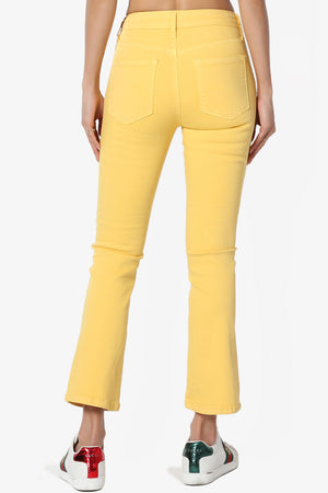 Artemis Mid-Rise Crop Boot Cut Jeans - TheMogan