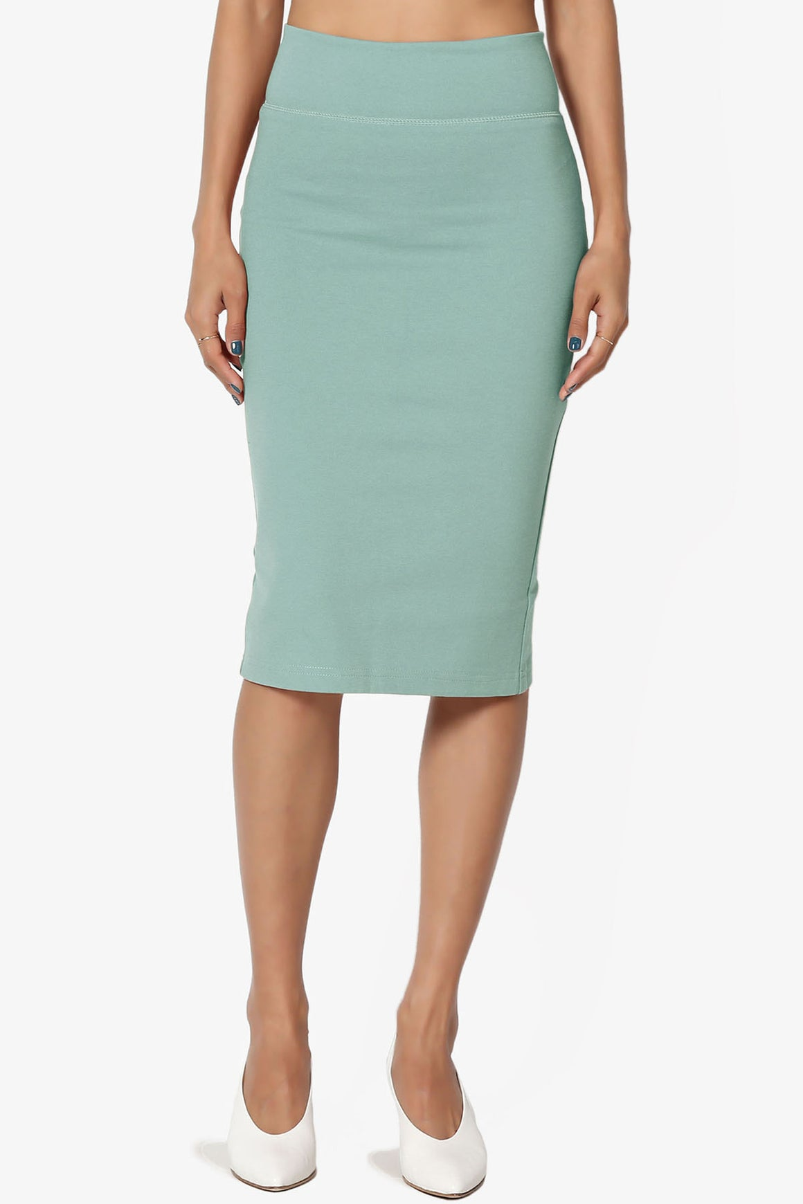 Levitate Thick Ponte Knee Skirt