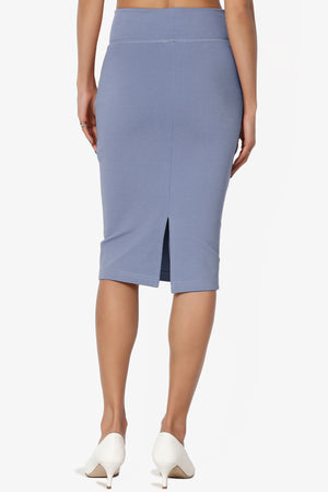 Levitate Thick Ponte Knee Skirt - TheMogan
