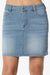 Laya Washed Mini Denim Skirt - TheMogan