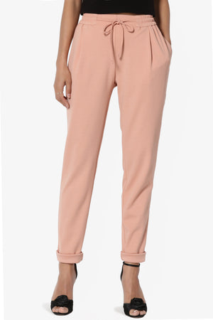 Sethe Elastic Waist Tapered Trousers - TheMogan