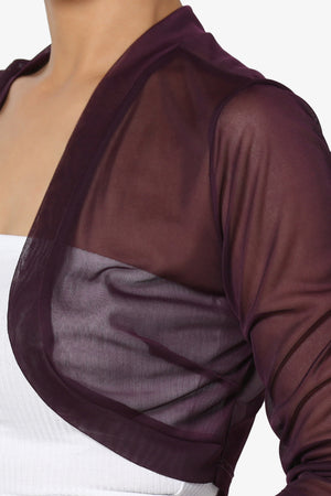Ellice 3/4 Sleeve Mesh Bolero - TheMogan