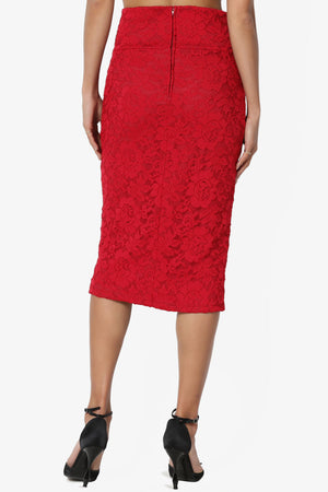 Melana Floral Lace Skirt - TheMogan