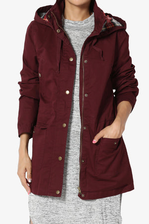 Desire Checker Hooded Anorak - TheMogan