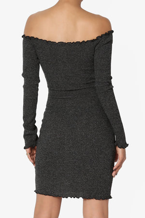 Laurel Off Shoulder Ribbed Dress - TheMogan