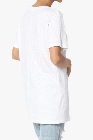 Enzia Floral Pocket Short Sleeve Tee - TheMogan