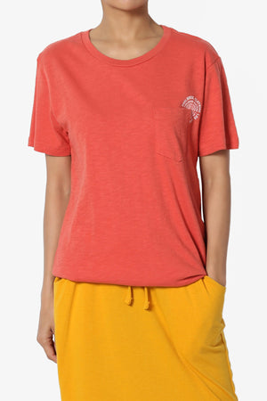 Yelina Patch Pocket Short Sleeve Tee - TheMogan