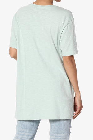 Korie Button Pocket Short Sleeve Tee - TheMogan