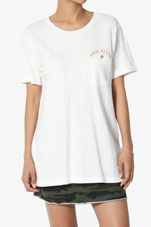 Lise Button Pocket Short Sleeve Tee - TheMogan