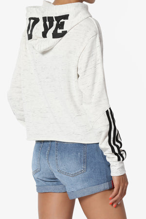 Pride Striped L/S Cropped Hoodie - TheMogan