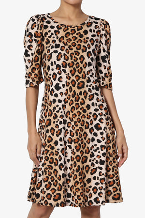 Delray Puff Sleeve Print Dress