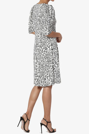 Jimmy Puff Sleeve Print Dress - TheMogan