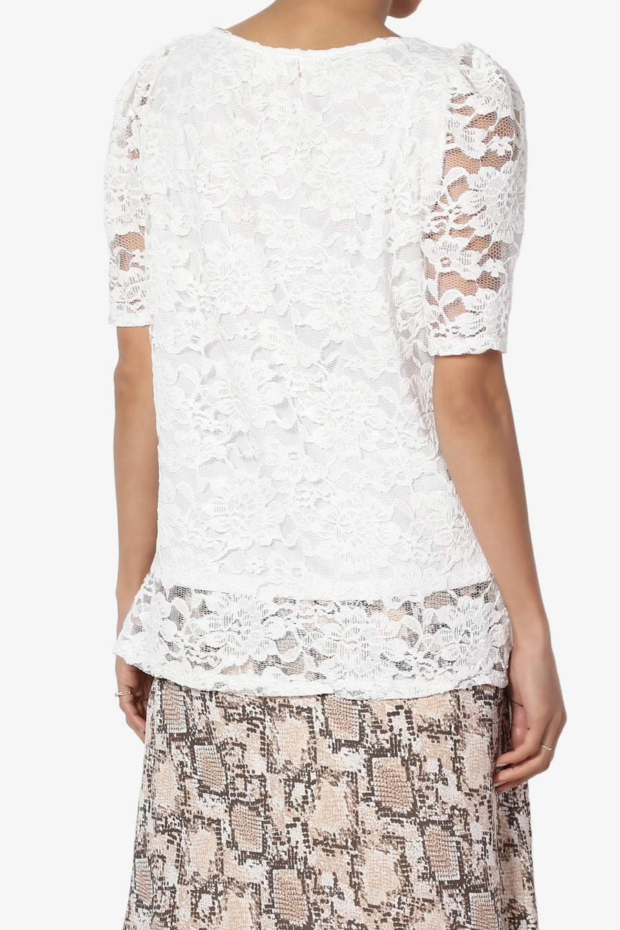 Regina Puff Sleeve Lace Top
