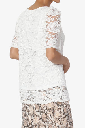 Regina Puff Sleeve Lace Top - TheMogan