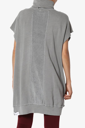 Cassidee French Terry Turtle Neck Tunic Vest