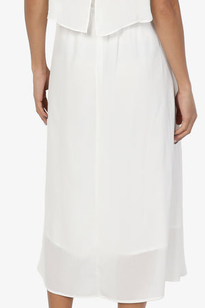 Dalenna Cami Layered Long Midi Dress PLUS - TheMogan