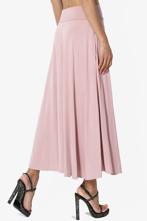 Jubilant Pocket Swing Midi Skirt - TheMogan