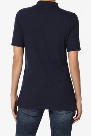 Kahiko Mock Neck Short Sleeve Tee - TheMogan