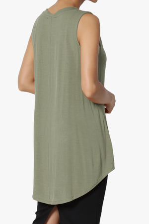 Myles Sleeveless V-Neck Luxe Jersey Top