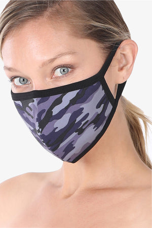 3 PACK Washable Cotton MASK With Lining Camouflage