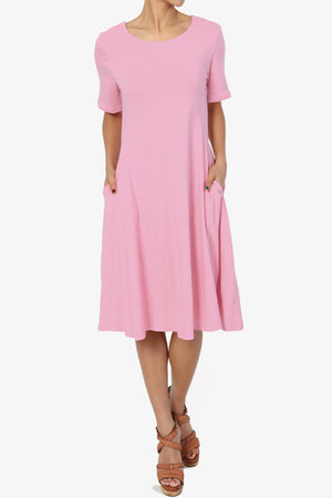 Balla S/S Cotton Fit & Flare Dress More Colors - TheMogan