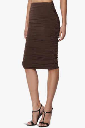 Lagos Ruched Pencil Skirt - TheMogan