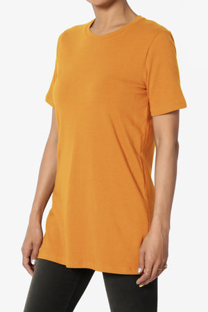 Elora Crew Neck Missy Tee PLUS ADD COLOR