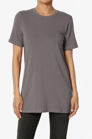 Elora Crew Neck Missy Tee PLUS - TheMogan